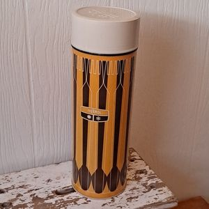 Vintage 1971 Brown and Yellow Thermos